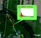 Результаты сканирования, нанесенные на карту местности